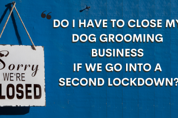 Shop door sign. COVID lockdown. The Whippet media